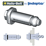 Lindapter Galvanised Hollo Bolts