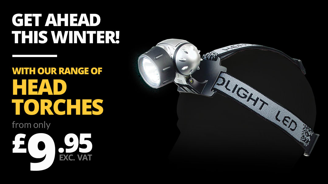 Get ahead this winter with our range of head torches
