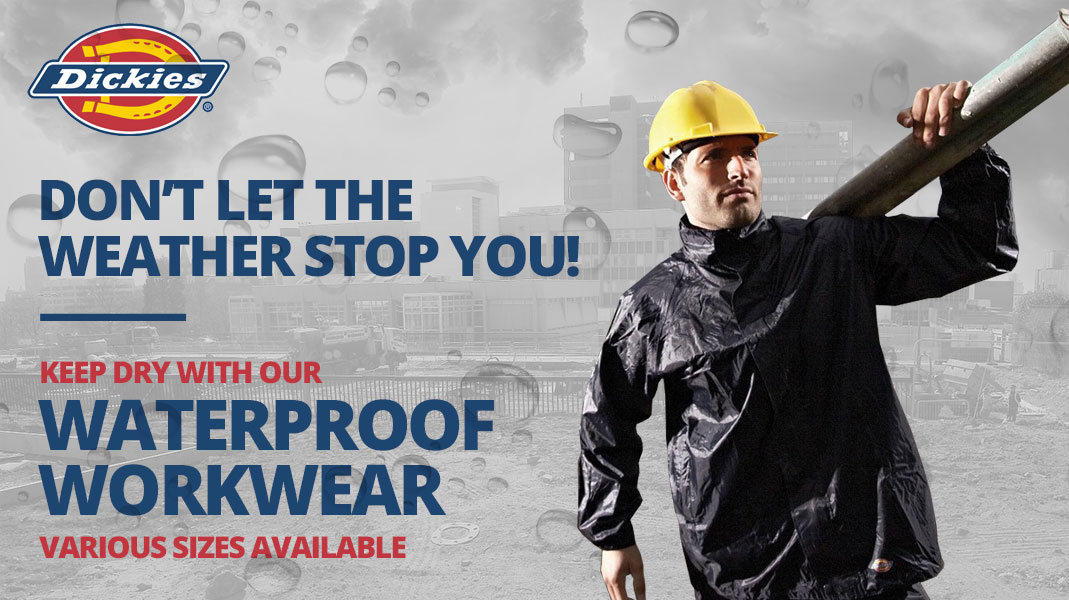 Waterproof Workwear promotion